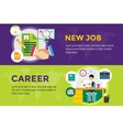 New job search and career work infographic vector image