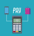 nfc technology payment vector image