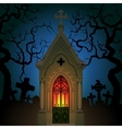 Old Gothic Crypt vector image vector image