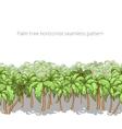 Palm tree horizontal pattern vector image vector image