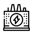 power station icon outline vector image vector image