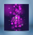 Purple black bokeh template vector image vector image