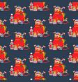 santa claus bag seamless pattern vector image vector image