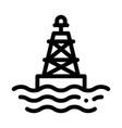 sea light buoy icon outline vector image vector image