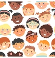 seamless pattern kids faces different vector image vector image