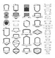 set empty emblems and labels templates design vector image