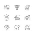set line icons psychology vector image