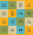 set of 16 social icons includes group phone vector image vector image