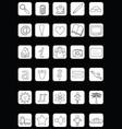 set simple symbols vector image