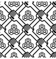 shaking hands business handshake seamless pattern vector image