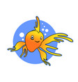 smile yellow goldfish design vector image vector image