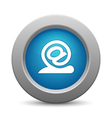 snail - email button vector image