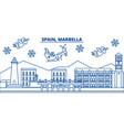 spain marbella winter city skyline merry vector image vector image