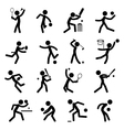 sport pictograph icon set 01 vector image