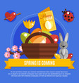 spring easter flat concept vector image
