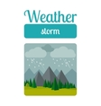 Storm weather vector image