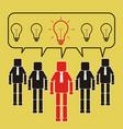 successful team leader give good idea teamwork vector image vector image