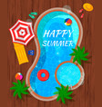 summer pool top view composition vector image