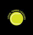 tennis sport logo vector image