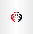 tiger logo icon symbol vector image vector image