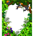 toucan in green forest vector image vector image