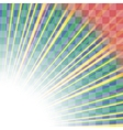 Transparent Colorful Rays Burst of Star vector image vector image