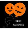 Two cute cartoon funny orange balloon pumpkin vector image vector image