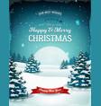 vintage blue christmas landscape vector image vector image