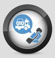 wrecker call icon vector image
