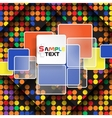 Colorful Square Element On Stripes Background vector image