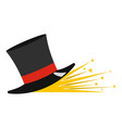 magic hat icon cartoon style vector image