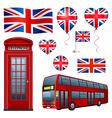 United Kingdom set vector image