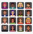 Cartoon avatars vector image