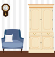Cabinet and armchair vector image