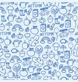cartoon doodles hand drawn style seamless pattern vector image