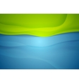 Abstract blue green wavy background vector image vector image