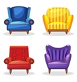 armchair soft colorful homemade set 5 vector image vector image