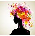 artistic woman silhouette design
