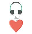 audio earphones with heart love vector image