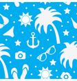 Beach seamless texture summer background season vector image vector image