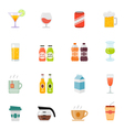 Beverage icon full color flat icon design vector image vector image