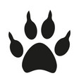 black and white dog paw footprint silhouette vector image