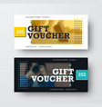 black and white gift voucher template with a vector image