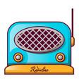 blue speaker radio icon cartoon style vector image