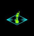 bong podcast logo vector image