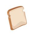 bread bakery icon sliced fresh wheat nutrition vector image