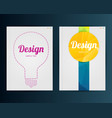 business template for flyer banner placard vector image vector image