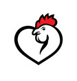 chicken love sign vector image