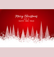 christmas card design with trees in snow vector image vector image