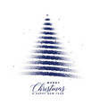 creative christmas tree made with dots particles vector image